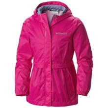 Columbia Sportswear Pardon My Trench Rain Jacket (For Little and Big Girls) in Haute Pink - Closeouts