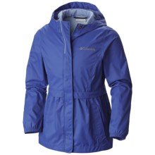 Columbia Sportswear Pardon My Trench Rain Jacket (For Little and Big Girls) in Light Grape - Closeouts