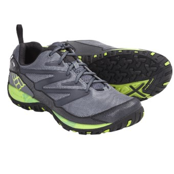 Columbia Sportswear Pathgrinder OutDry® Trail Shoes - Waterproof (For Men) in Charcoal/Wham