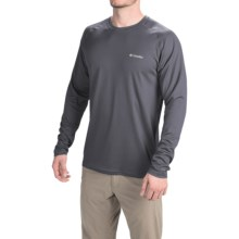 Columbia Sportswear Peak Racer Omni-Wick® Shirt - Long Sleeve (For Men) in Graphite/Tradewinds Grey - Closeouts