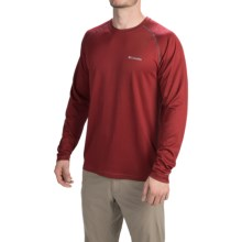 Columbia Sportswear Peak Racer Omni-Wick® Shirt - Long Sleeve (For Men) in Red Element/Graphite - Closeouts