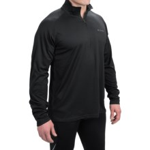 Columbia Sportswear Peak Racer Shirt - Zip Neck, Long Sleeve (For Men) in Black - Closeouts