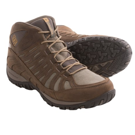 Columbia Sportswear Peakfreak Enduro Mid Leather OutDry® Trail Shoes - Waterproof (For Men) in Cordovan/Dark Banana