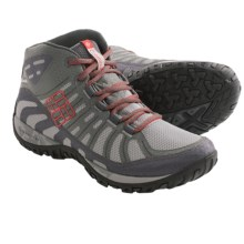 Columbia Sportswear Peakfreak Enduro Mid OutDry® Trail Shoes - Waterproof (For Men) in Light Grey/Sail Red - Closeouts