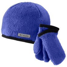 Columbia Sportswear Pearl Plush Hat and Mitten Set (For Toddlers) in Light Grape - Closeouts
