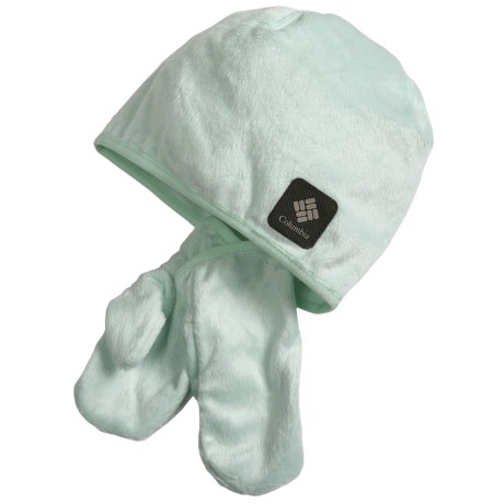 Columbia Sportswear Pearl Plush Hat and Mitten Set (For Toddlers) in Skylight