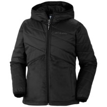 Columbia Sportswear Pearl Plush Hybrid Jacket - Insulated, Omni-Shield® (For Girls) in Black - Closeouts