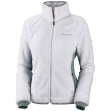 Columbia Sportswear Pearl Plush II Fleece Jacket (For Plus Size Women) in White - Closeouts