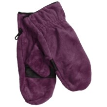 Columbia Sportswear Pearl Plush Mittens - Fleece (For Women) in Black Cherry - Closeouts