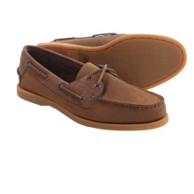 Columbia Sportswear Perfect Cast Boat Shoes - Leather (For Men) in Nutmeg/Tobacco - Closeouts
