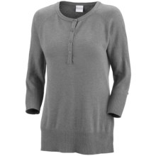 Columbia Sportswear Perfect Layer Heathered Sweater - Henley (For Women) in Light Grey Heather - Closeouts