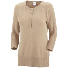 Columbia Sportswear Perfect Layer Heathered Sweater - Henley (For Women) in Oatmeal Heather - Closeouts