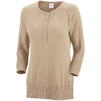 Columbia Sportswear Perfect Layer Heathered Sweater - Henley (For Women) in Oatmeal Heather