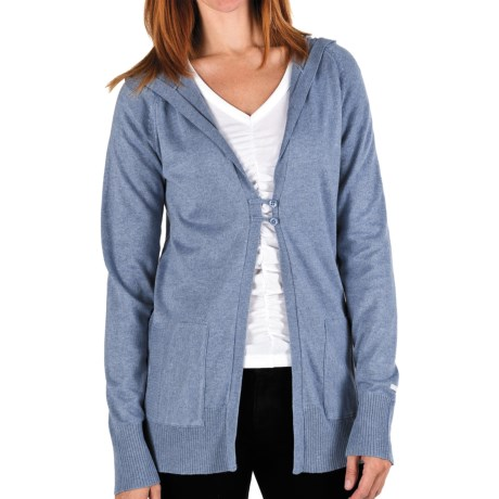 Columbia Sportswear Perfect Layer Hoodie Sweater - Knit (For Women) in Burnt Henna Heather