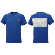 Columbia Sportswear Periodic Fishing Chart T-Shirt - Short Sleeve (For Men) in Bright Blue - Closeouts