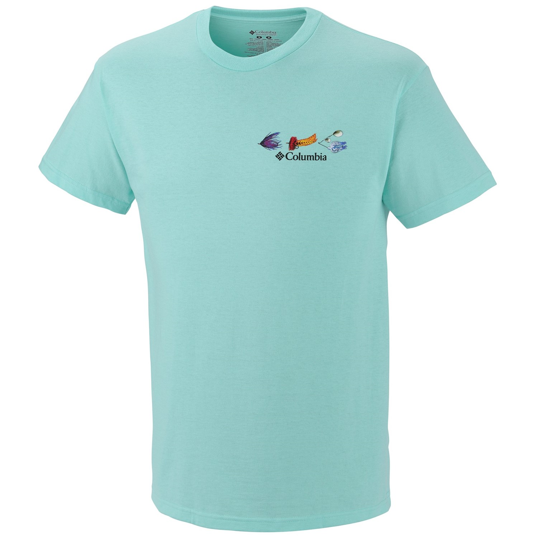 Columbia sportswear periodic fishing chart t shirt short for Columbia cotton fishing shirt