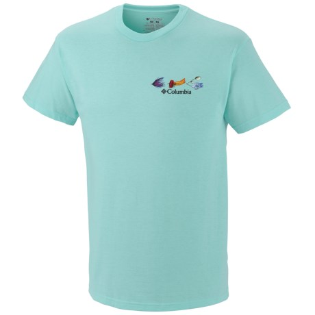 Columbia Sportswear Periodic Fishing Chart T-Shirt - Short Sleeve (For Men) in Gulf Stream