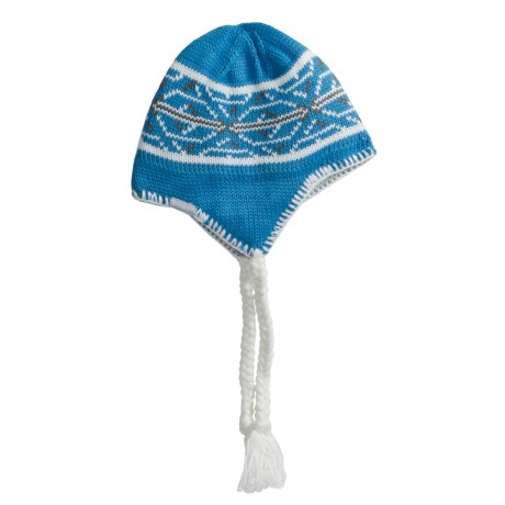 Columbia Sportswear Peruvian Hat (For Youth) in Compass Blue/Sea Salt