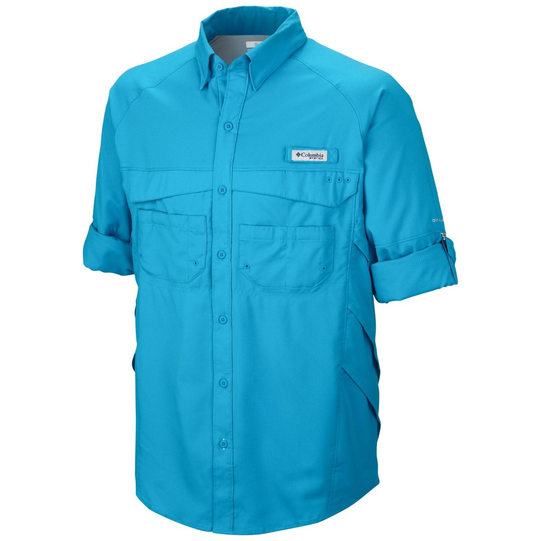 Columbia sportswear pfg airgill lite ii omni shade shirt for Men s upf long sleeve shirt