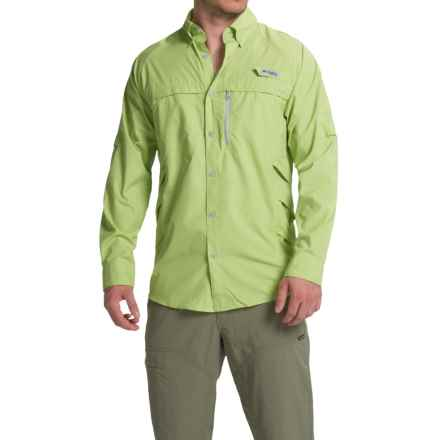 Columbia Sportswear PFG Airgill Solar Shirt - Omni-Freeze® ZERO, UPF 50, Long Sleeve (For Men) in Napa Green/Cool Grey - Closeouts