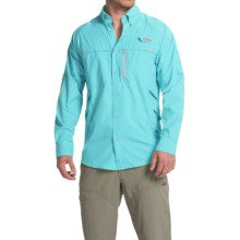 Columbia Sportswear PFG Airgill Solar Shirt - Omni-Freeze® ZERO, UPF 50, Long Sleeve (For Men) in Opal Blue/Cool Grey - Closeouts