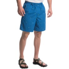 Columbia Sportswear PFG Backcast II Printed Shorts - UPF 50, Built-In Brief (For Men) in Marine Blue Tossed Print - Closeouts