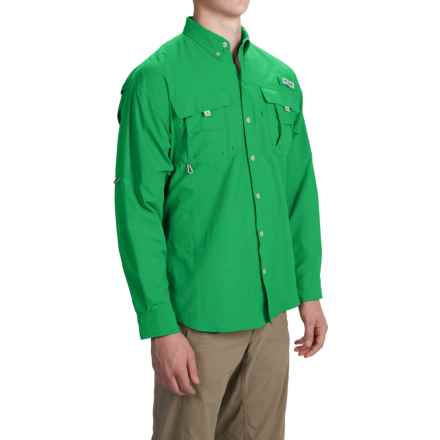 Columbia Sportswear PFG Bahama II Fishing Shirt - Long Sleeve (For Men and Big Men) in Dark Lime - Closeouts