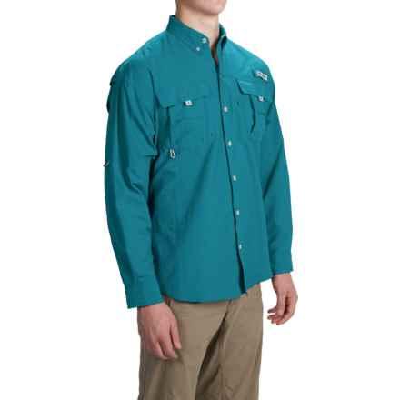 Columbia Sportswear PFG Bahama II Fishing Shirt - Long Sleeve (For Men and Big Men) in Deep Marine - Closeouts