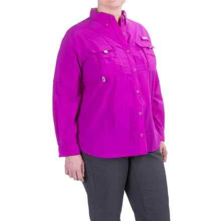 Columbia Sportswear PFG Bahama Shirt - UPF 30, Long Sleeve (For Plus Size Women) in Bright Plum - Closeouts