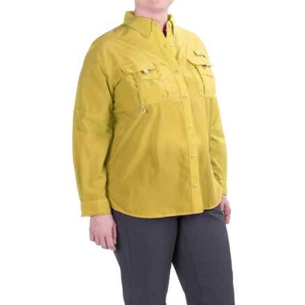 Columbia Sportswear PFG Bahama Shirt - UPF 30, Long Sleeve (For Plus Size Women) in Buttercup - Closeouts