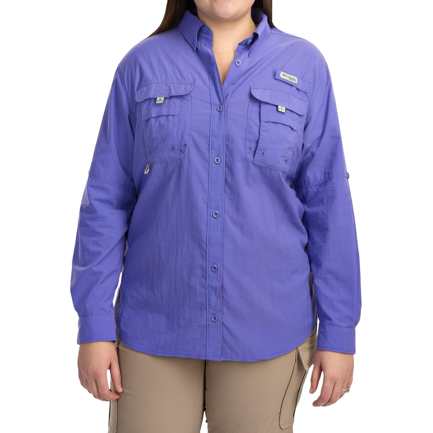 Columbia sportswear pfg bahama shirt for plus size women for Columbia shirts womens pfg