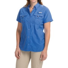 Columbia Sportswear PFG Bahama Shirt - UPF 30, Short Sleeve (For Women) in Harbor Blue - Closeouts