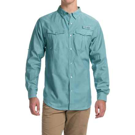 Columbia Sportswear PFG Beadhead Oxford Shirt - Long Sleeve (For Men) in Deep Marine Oxford - Closeouts