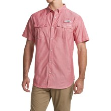Columbia Sportswear PFG Beadhead Oxford Shirt - UPF 30 (For Men) in Sunset Red Oxford - Closeouts