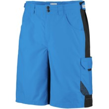 Columbia Sportswear PFG Big Katuna Fishing Shorts - UPF 50 (For Men) in Compass Blue/Black - Closeouts