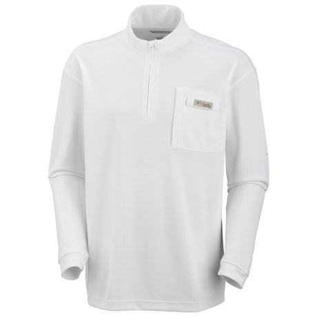 Columbia Sportswear PFG Blood and Guts Shirt - UPF 30, Zip Neck, Long Sleeve (For Men) in White