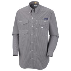 Columbia Sportswear PFG Bonefish Shirt - UPF 30, Long Sleeve (For Men) in Cool Grey/Stripe