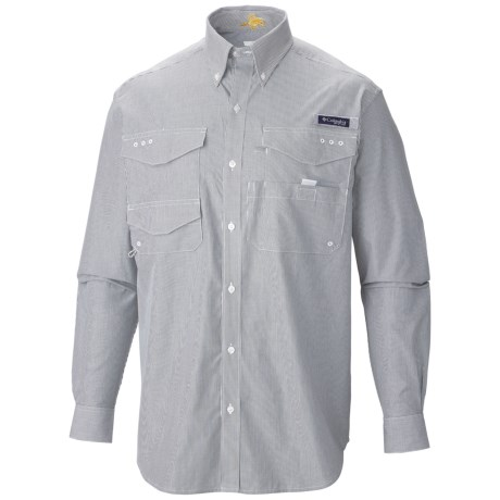 Columbia Sportswear PFG Bonefish Shirt - UPF 30, Long Sleeve (For Men) in Collegiate Navy/Bengal Stripe