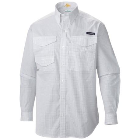 Columbia Sportswear PFG Bonefish Shirt - UPF 30, Long Sleeve (For Men) in Collegiate Navy/Mini Box