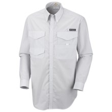 Columbia Sportswear PFG Bonefish Shirt - UPF 30, Long Sleeve (For Men) in Cool Grey/Stripe - Closeouts