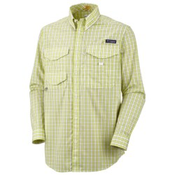 Columbia Sportswear PFG Bonefish Shirt - UPF 30, Long Sleeve (For Men) in Firefly/Striped Box