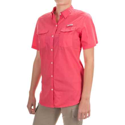 Columbia Sportswear PFG Bonehead II Fishing Shirt - Short Sleeve (For Women) in Bright Geranium - Closeouts