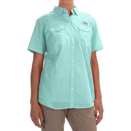 Columbia Sportswear PFG Bonehead II Fishing Shirt - Short Sleeve (For Women) in Ocean Water - Closeouts