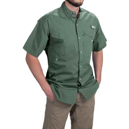 Columbia Sportswear PFG Bonehead Shirt - Short Sleeve (For Men) in Commando - Closeouts