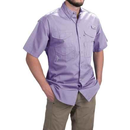 Columbia Sportswear PFG Bonehead Shirt - Short Sleeve (For Men) in Whitened Violet - Closeouts