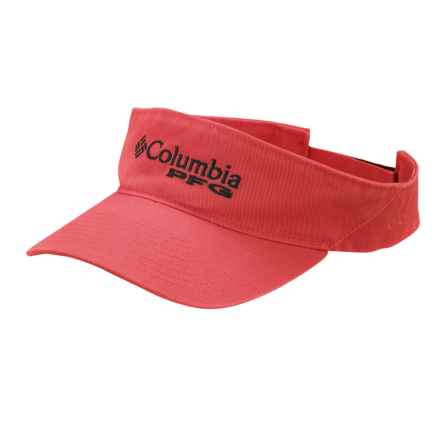 Columbia Sportswear PFG Bonehead Visor in Sunset Red - Closeouts