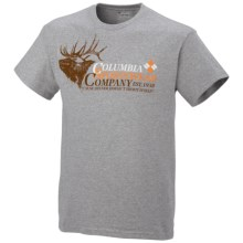 Columbia Sportswear PFG Branded 1 T-Shirt - Short Sleeve (For Big Men) in Grey Heather - Closeouts