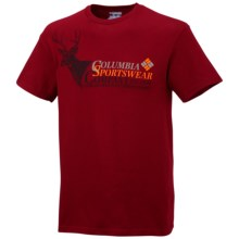 Columbia Sportswear PFG Branded 1 T-Shirt - Short Sleeve (For Big Men) in Red Velvet - Closeouts