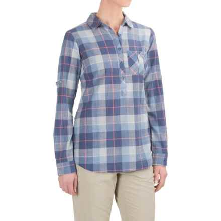 Columbia Sportswear PFG Coral Springs II Shirt - Long Sleeve (For Women) in Bluebell Plaid - Closeouts