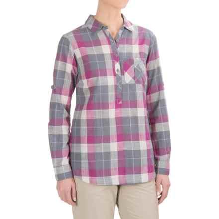 Columbia Sportswear PFG Coral Springs II Shirt - Long Sleeve (For Women) in Grey Ash Plaid - Closeouts